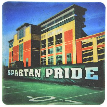MSU Spartan Pride Tile Coaster
