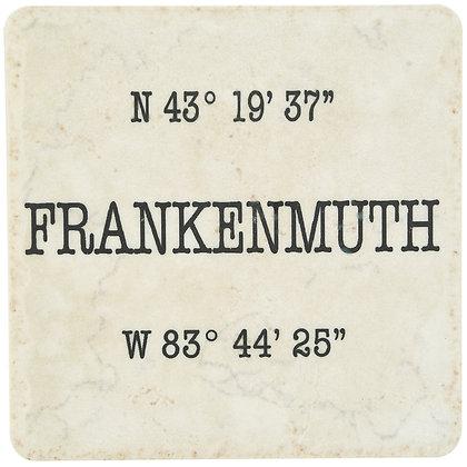 Frankenmuth Coordinates White Tile Coaster