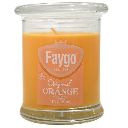 Faygo Orange Soda Candle 12 oz.