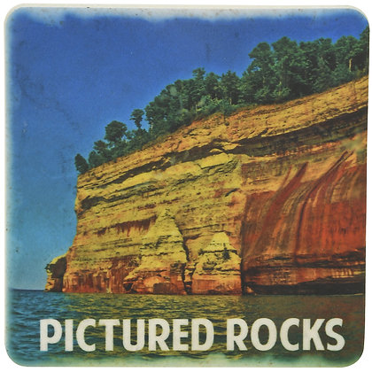 Pictured Rocks Tile Coaster