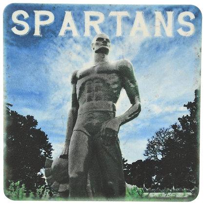MSU Spartan Statue Tile Coaster