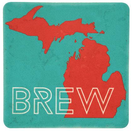 Brew Michigan Tile Coaster