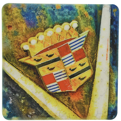 Vintage Cadillac Hood Tile Coaster