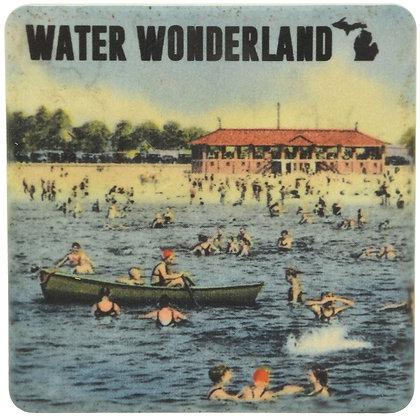 Michigan Water Wonderland Tile Coaster