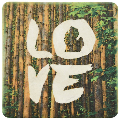 Love Michigan Forest Tile Coaster