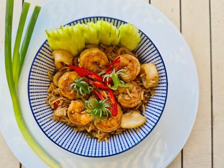 אורז מוקפץ עם פירות ים- קאו פאד ת'אלי                ข้าวผัดทะเล