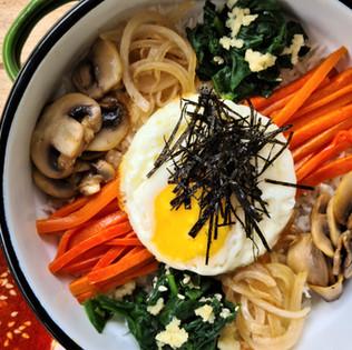 Bibimbap צמחוני - קערה אחת, ארוחה שלמה