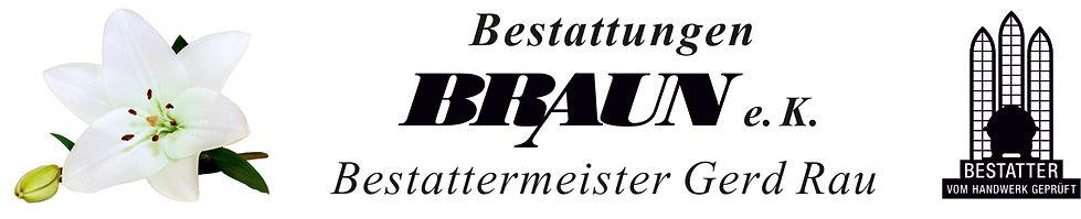 Bestattungen Braun Logo