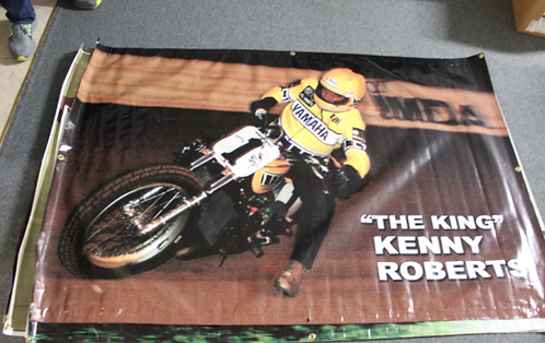 Banner 4' x 6' - Kenny Roberts at Indy Mile