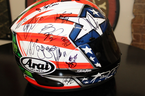 Arai Helmet - signed by several riders