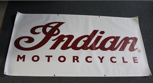Banner 3' x 5' - Indian Motorcycles