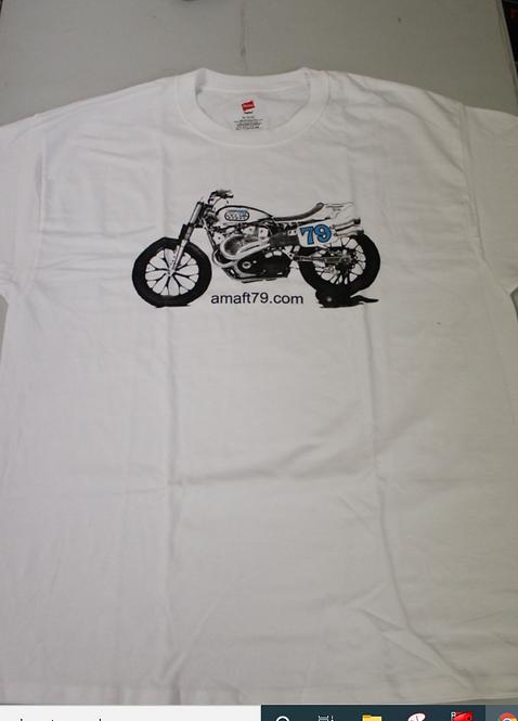 AMAFT79.COM XR750 T-Shirt (White)