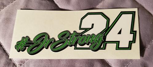 "#JRSTRONG sticker - 3.75"" X 1.50"""