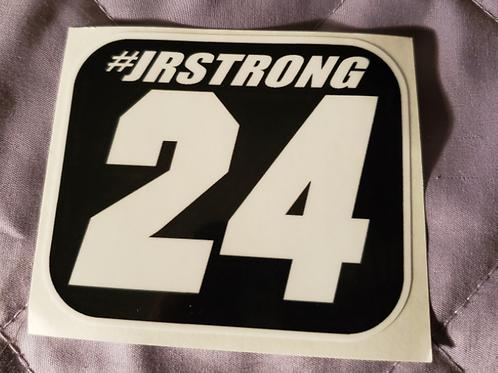 "#JRSTRONG sticker - 3.50"" X 3.00"""
