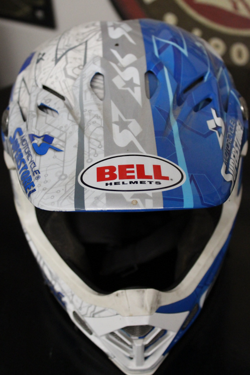 Bell Helmet - donated and signed by #55 Jacob Shoemaker