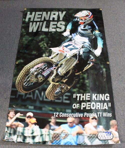 "Banner 3' x 5' - Henry Wiles ""King of Peoria"" (12 wins)"