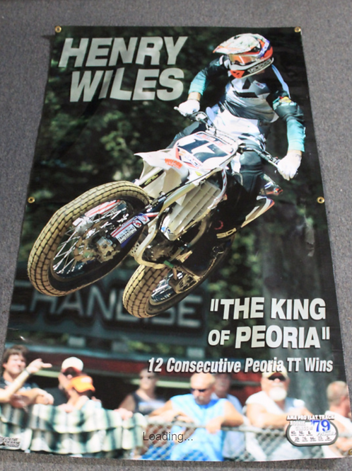 """Banner 3' x 5' - Henry Wiles """"King of Peoria"""" (12 wins)"""