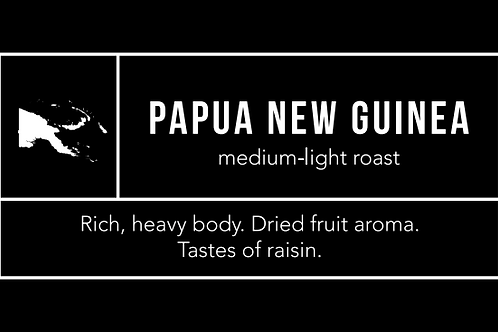 Papa New Guinea: Medium-Light Roast