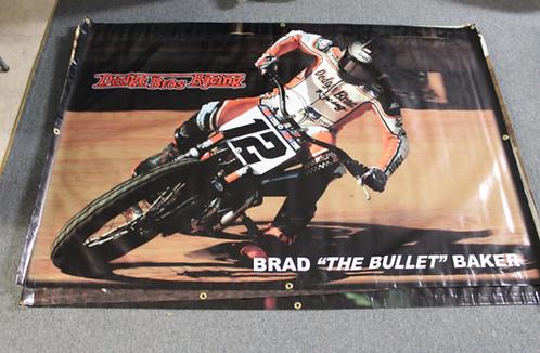 """Banner 4' x 6' Brad """"The Bullet"""" Baker"""