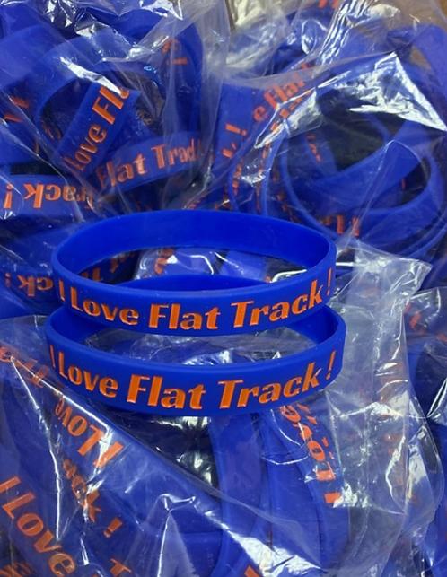 I LOVE FLAT TRACK! bracelet (minimum order of 5 online)