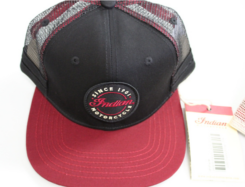 Indian Motorcycle Hat (black and red)