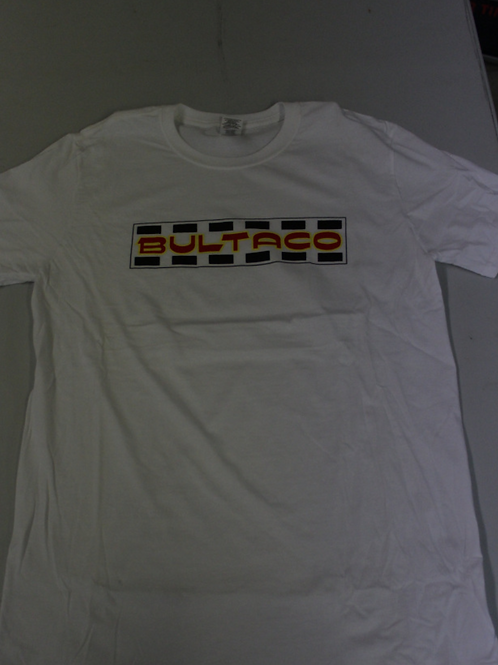 Bultaco T-Shirt (White w/red letters)