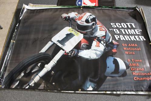 "Banner 4' x 6' - Scott ""9-time"" Parker"