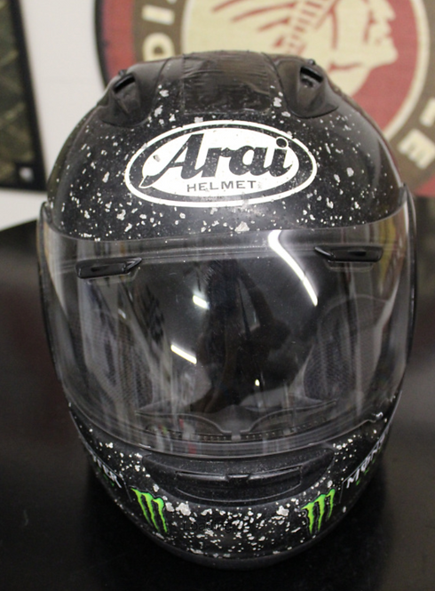 "Arai Helmet - Signed by #2 ""King of Cool"" Kenny Coolbeth"