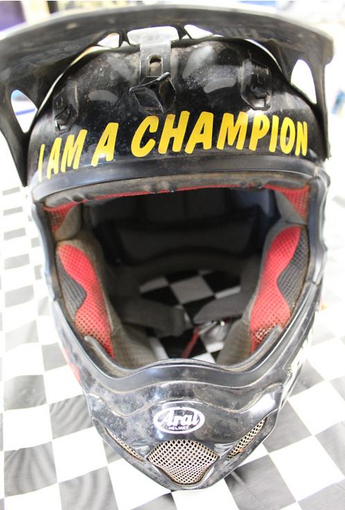 Arai Helmet - Donated by #23 Jeffrey Carver