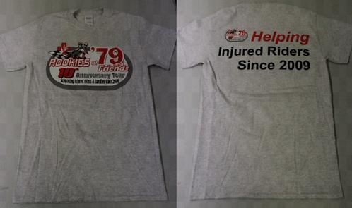 10th Anniversary Rookies of '79 T-Shirt (Gray) **SALE PRICE**