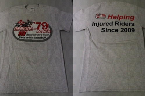 10th Anniversary Rookies of '79 T-Shirt (Gray) **SALE PRICE**