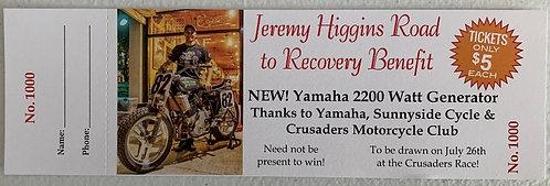 Jeremy Higgins Gives Back Raffle - Yamaha 2200 Generator