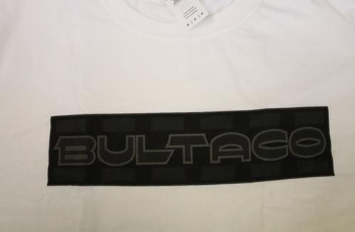 Bultaco T-Shirt (White w/black letters)