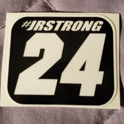"#JRSTRONG sticker - 2.00"" X 1.75"""