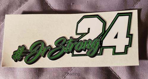 "#JRSTRONG sticker - 5.00"" X 2.00"""