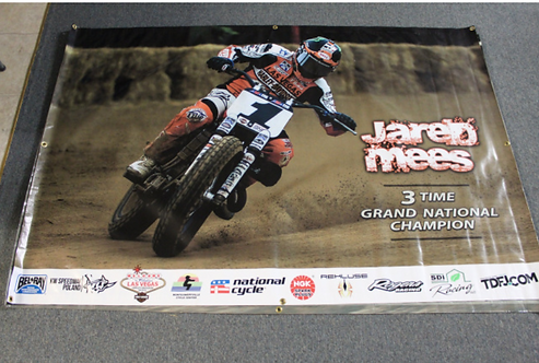 Banner 4' x 6' - Jared Mees (3-time Champion)