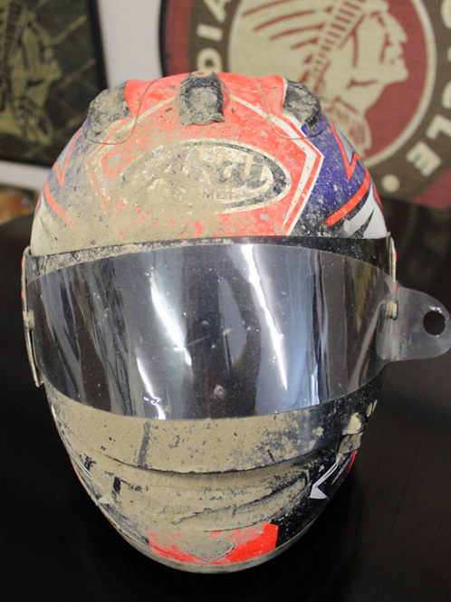 Arai Helmet, signed and donated by Davis Fisher
