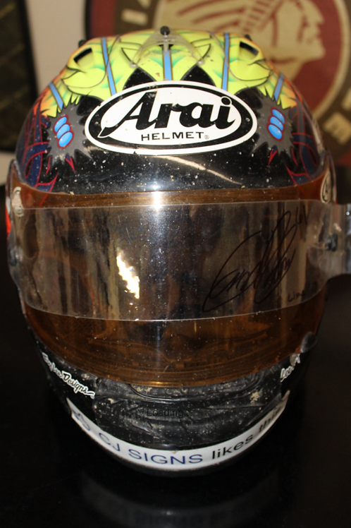 Arai Helmet - signed and donated by #61 Dustin Crow