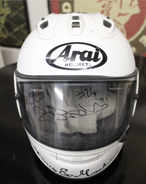 Arai Helmet - Signed and donated by #24 Oliver Brindley