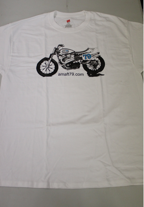 AMAFT79.COM XR750 T-Shirt (White)