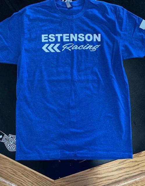 Estenson Racing Flag T-Shirt - Blue
