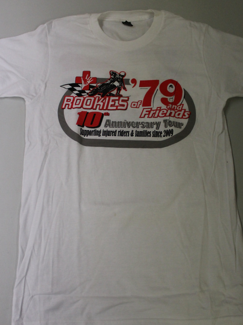10th Anniversary Rookies of '79 T-Shirt (White) **SALE PRICE**