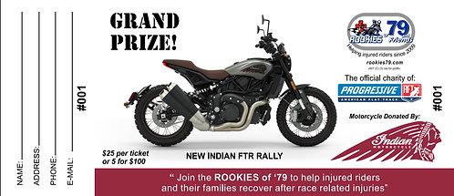 Indian FTR Rally Motorcycle Raffle Ticket