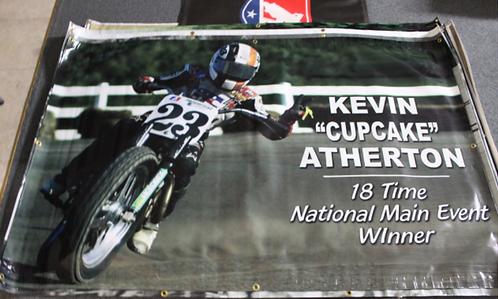 """Banner 4' x 6' - Kevin """"Cupcake"""" Atherton"""