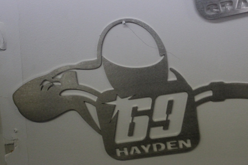 Nicky Hayden Steel Wall Plaque (by Randy Rothe)