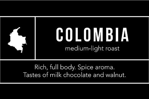 Colombia: Medium-Light Roast
