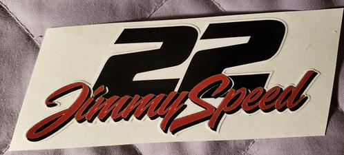 "JIMMY SPEED sticker - 4.50"" X 2.00"""