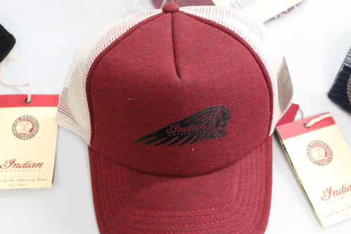 Indian Motorcycle Hat (red and white)