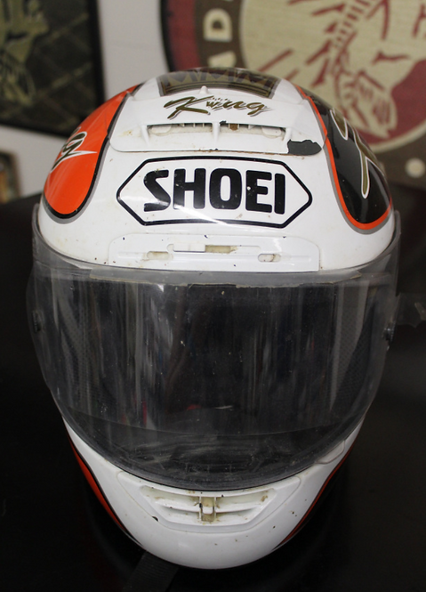 Shoei Helmet - Signed and donated by #80 Rich King