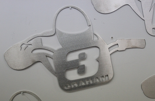 Ricky Graham Steel Wall Plaque (by Randy Rothe)